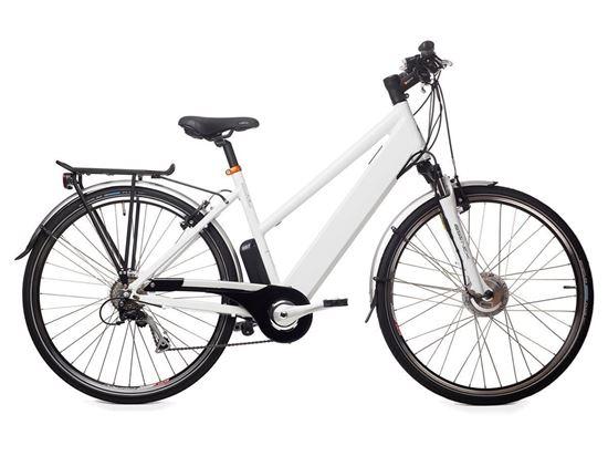 Cabo da Roca White / bateria 12 Ah GEOBIKE rower elektryczny trekkingowy