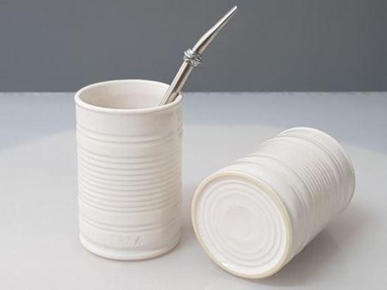 Naczynko Ceramiczne Białe Drive Puszka do yerby
