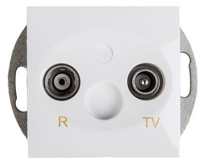 Simon 54 Gniazdo antenowe RD/TV końcowe separowane białe DAK.01/11