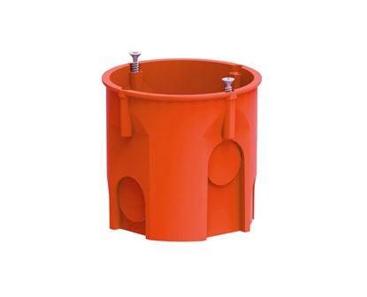 Puszka podtynkowa 60mm głęboka z wkrętami pomarańczowa PK-60 LUX 0206-51