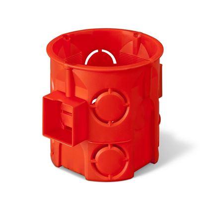 Puszka podtynkowa 60mm głęboka czerwona PK-60 0285-00