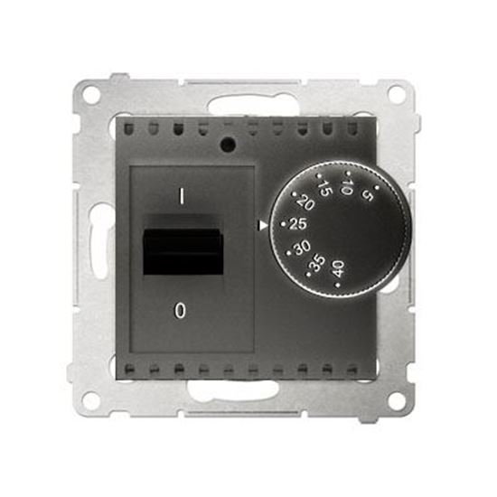 Simon 54 Regulator temperatury 5-40°C IP20 antracyt DRT10W.02/48