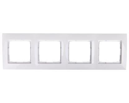 Simon 54 Premium Ramka poczwórna biała /do karton-gips/ DRK4/11