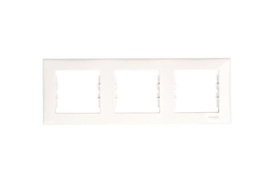 Sedna Ramka potrójna pozioma biała SDN5800521