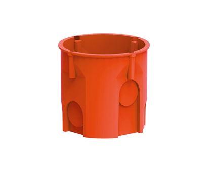 Puszka podtynkowa 60mm głęboka czerwona PK-60/60 0206-50