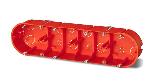 Puszka 4x 60mm p/t regips pomarańczowa PK-4x60 0235-00