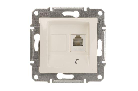 Sedna Gniazdo telefoniczne pojedyncze RJ11 kremowe SDN4101123
