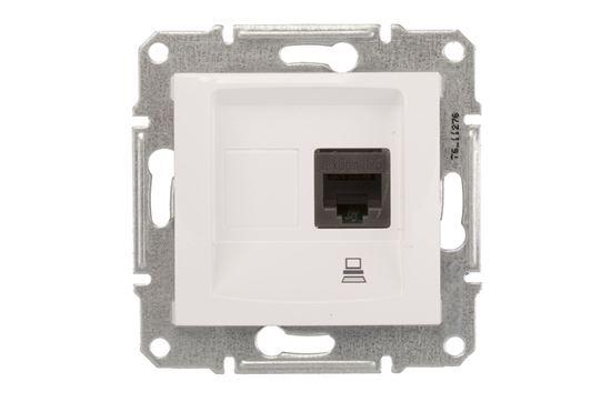 Sedna Gniazdo komputerowe pojedyncze RJ45 kat.5e UTP białe SDN4300121