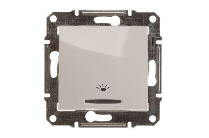 Sedna Przycisk /światło/ z podświetleniem biały SDN1800121