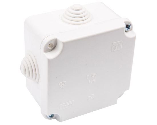 Puszka n/t hermetyczna pusta dla Cu do 2.5mm2 88x88x60mm IP55 biała PK-1 0224-00