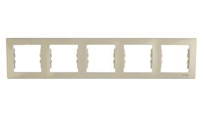 Sedna Ramka pięciokrotna kremowa pozioma SDN5800923