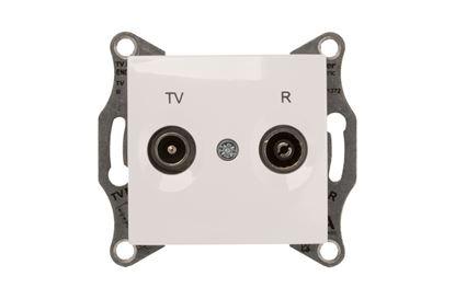 Sedna Gniazdo antenowe RD/TV końcowe białe SDN3301621