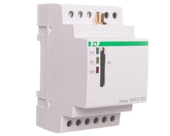 Przekaźnik zdalnego sterowania GSM (SMS) 2xwy/2xwe załącz/wyłącz/powiadomienie SIMply MAX P01