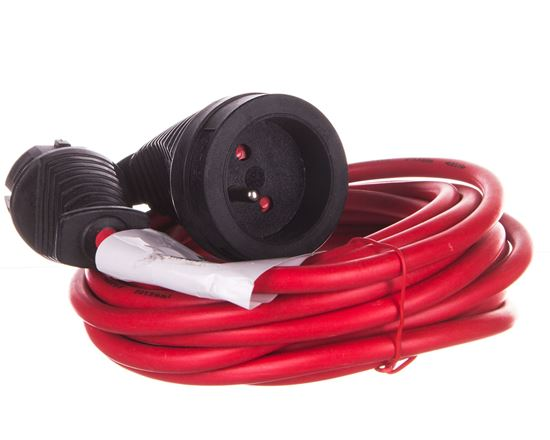 Kabel przedłużający (przedłużacz) 5m czerwony 1x230V H05VV-F 3G1,5 1167454
