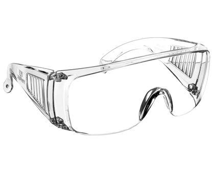 Okulary ochronne białe poliwęglan odporne na zarysowania 82S108