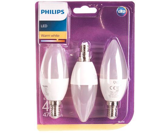 Żarówka LED (40W) B35 E14 WW FR ND 3BC/6 2700K 470lm 929001253695 (3szt.)