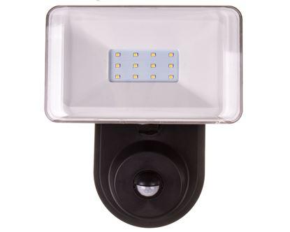 Oprawa naścienna LED 7W z czujnikiem PIR obudowa plastikowa dyfuzor PC 600lm 4000K AC 220V-240V IP44 LAMPRIX LP-12-025