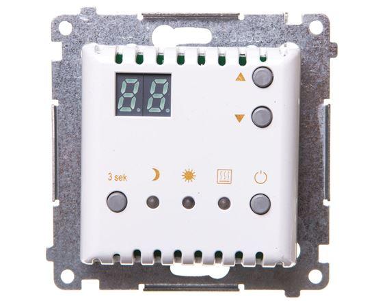 Simon 54 Termostat cyfrowy z wewnętrznym czujnikiem temperatury (moduł) pierścień biały DTRNW.01/11