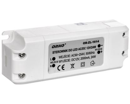Zasilacz LED 12V DC 24W 2A IP20 OR-ZL-1614