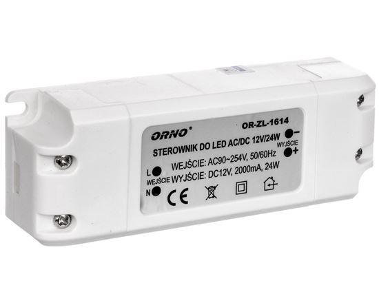 Zasilacz LED 12V DC 24W 2A IP20 OR-ZL-1614
