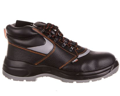 Buty robocze skórzane antypoślizgowa podeszwa odporna na ścieranie podnosek i wkładka stalowe rozmiar 47 CE 82-028