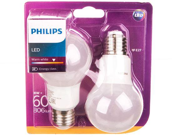 Żarówka LED (60W) A60 E27 WW 230V FR ND 2BC/6 2700K 806lm 929001234361 (2szt.)
