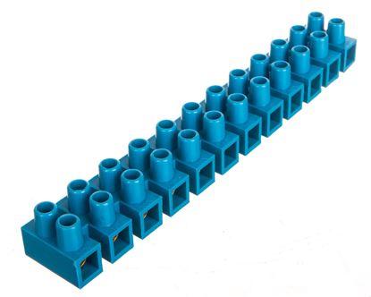 Listwa zaciskowa 12-torowa PA niebieska 16mm2 /10szt./