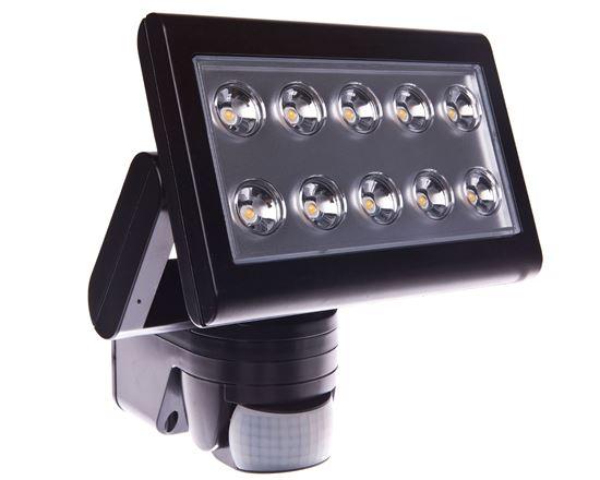 Projektor szerokokątny 180 DG 25W 230V 4000K z czujnikiem ruchu i zmierzchu 1500lm PIR LAMPRIX LP-17-016
