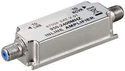 Wzmacniacz sygnału SAT 20dB /na kabel koncentryczny/ F - F 67056