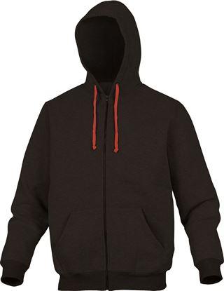 Bluza z kapturem z poliestru 65% i bawełny 35% L czarno-czerwona CENTONRGT