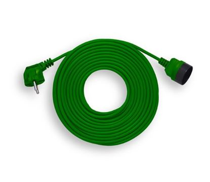 Przedłużacz ogrodowy 1-gniazdo b/u 20m /OMY 2x1/ zielony PK-1020-7