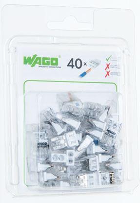 Szybkozłączka 2x 0,5-2,5mm2 transparentna 2273-202/0996-0040/VE00-0100 /blister 40szt/