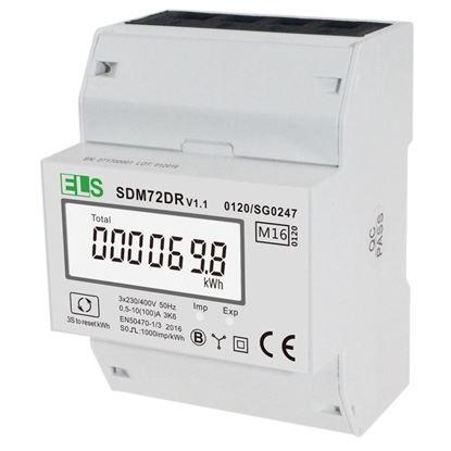 Licznik energii elektrycznej LCD 3-fazowy 100A 3x230/400V z resetem SDM72DR z MID