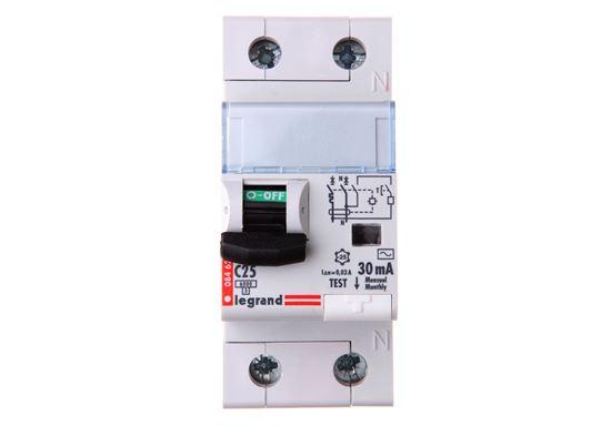 Wyłącznik różnicowo-nadprądowy 2P 25A C 0,03A typ AC P312 DX3 411015
