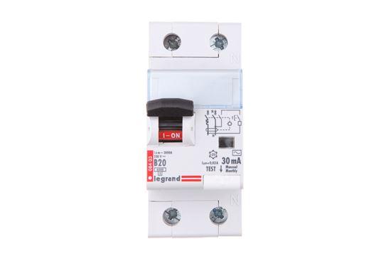 Wyłącznik różnicowo-nadprądowy 2P 20A B 0,03A typ AC P312 DX3 410922
