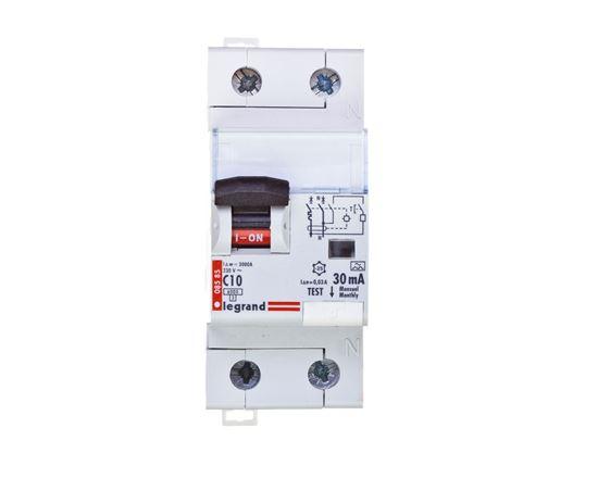 Wyłącznik różnicowo-nadprądowy 2P 10A C 0,03A typ A P312 DX3 411059