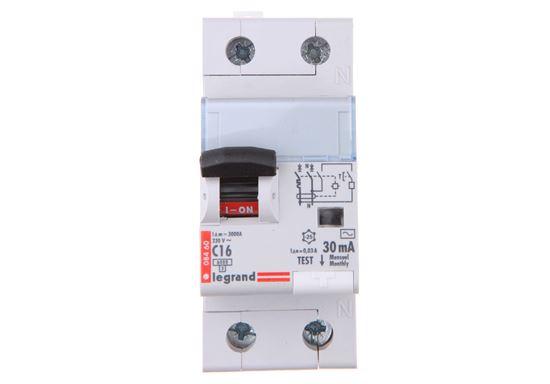 Wyłącznik różnicowo-nadprądowy 2P 16A C 0,03A typ AC P312 DX3 411013