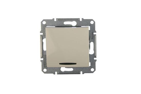 Sedna Łącznik schodowy 10AX z podświetleniem kremowy IP20 SDN1500223