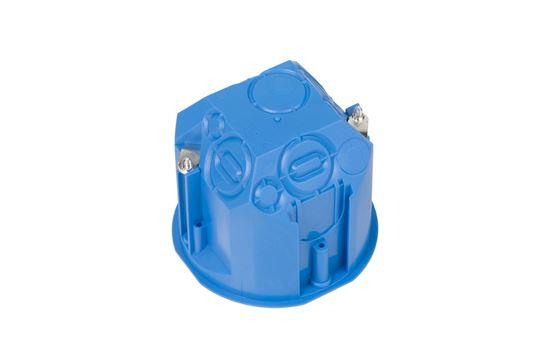 Puszka podtynkowa 60mm regips głęboka niebieska PV 60D samogasnąca bezhalogenowa 32013203