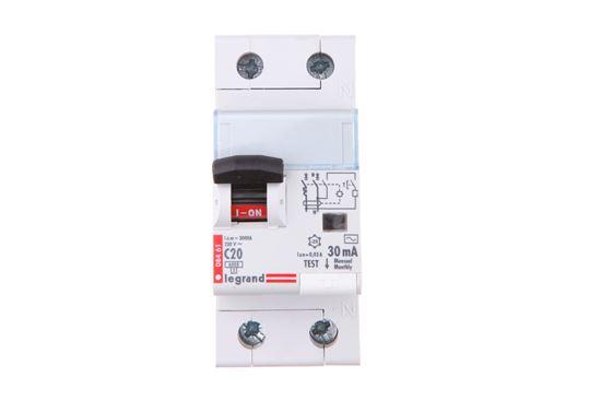 Wyłącznik różnicowo-nadprądowy 2P 20A C 0,03A typ AC P312 DX3 411014