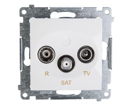 Simon 54 Gniazdo antenowe RD/TV/SAT końcowe białe DASK.01/11