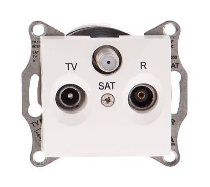 Sedna Gniazdo antenowe RTV/SAT przelotowe 8dB kremowe SDN3501223