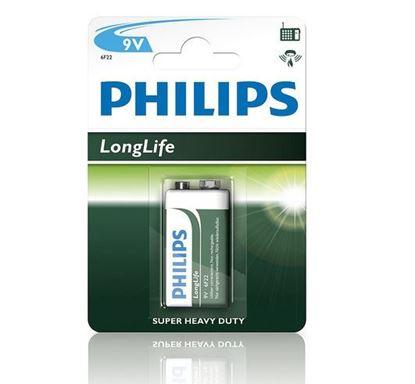 Bateria cynkowo-węglowa 6F22 9V LongLife 6F22L1B/10 /blister/