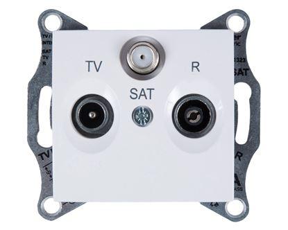 Sedna Gniazdo antenowe RD/TV/SAT przelotowe białe SDN3501421
