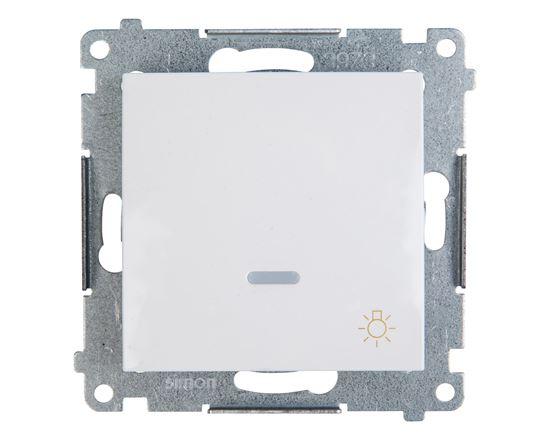 Simon 54 Przycisk /światło/ z podświetleniem biały DS1L.01/11