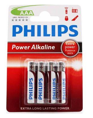 Bateria alkaliczna LR03 / AAA 1,5V POWER ALKALINE LR03P4B/10 /blister 4szt./