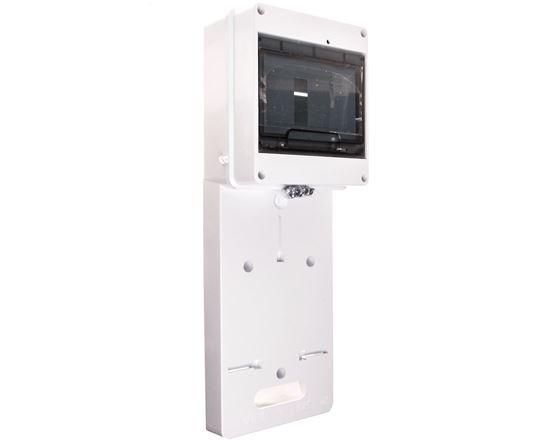 Tablica licznikowa jednofazowego z szybą dymną 420x157mm z miejscem na zabezpieczenia 7xS biała TLR-1F-N-PE 0112-00