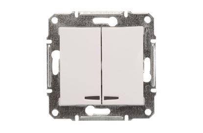 Sedna Łącznik świecznikowy 10AX z podświetleniem LED biały IP20 SDN0300321