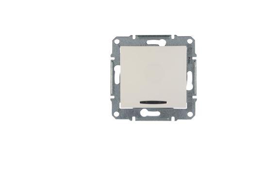 Sedna Łącznik schodowy 10AX z podświetleniem biały IP20 SDN1500221