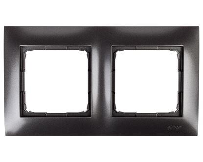 Simon 54 Premium Ramka podwójna antracyt DR2/48